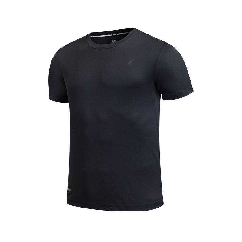 特步 专柜款 男子夏季T恤 17新品纯色运动健身短袖针织衫983229011789
