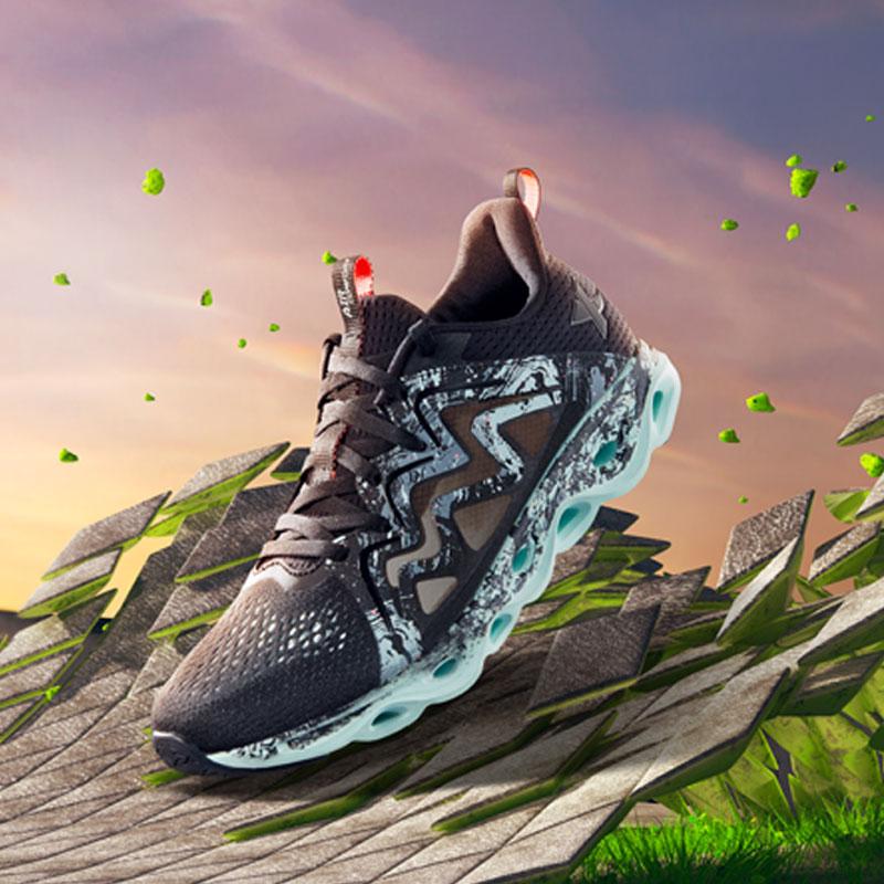 特步 专柜款 女子夏季跑鞋 减震旋科技女子跑步鞋982218116966