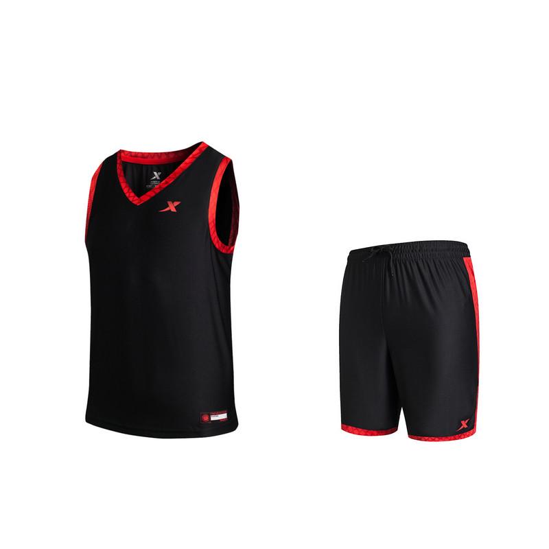 特步 专柜款 男子夏季篮球比赛套装 20 新品男子健身运动套装983229680008