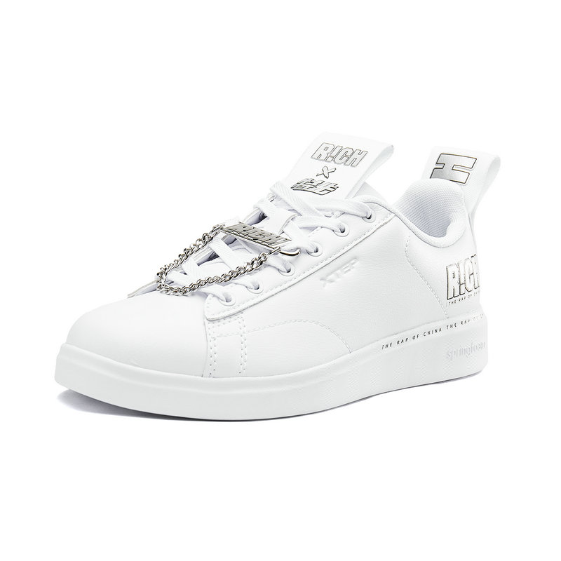 特步 专柜款 女子板鞋2018秋季新款舒适透气时尚学生青年嘻哈潮流休闲鞋 982318316072