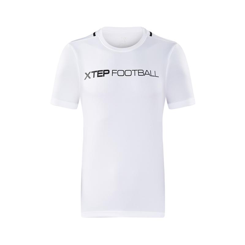 特步 专柜款 男子短袖针织衫T恤2018年夏季新款舒适时尚运动户外健身综训 982329012356