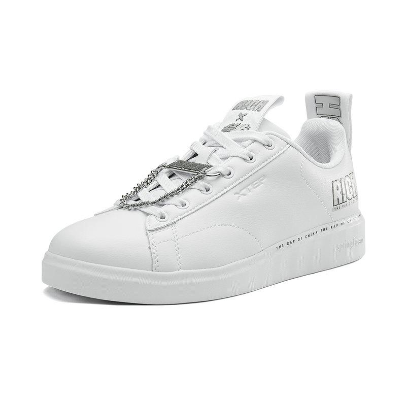 特步 专柜款 板鞋男2018年秋季新款男子舒适透气时尚嘻哈青年潮流简单板鞋 982319316072