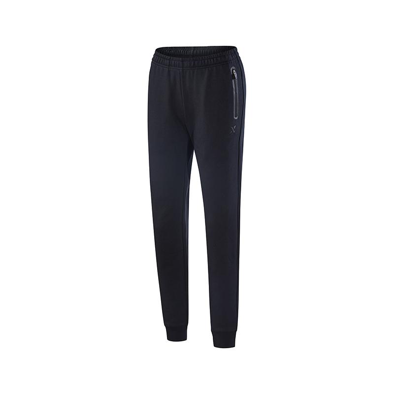特步 女子针织长裤  基础运动舒适健身裤子882328639119