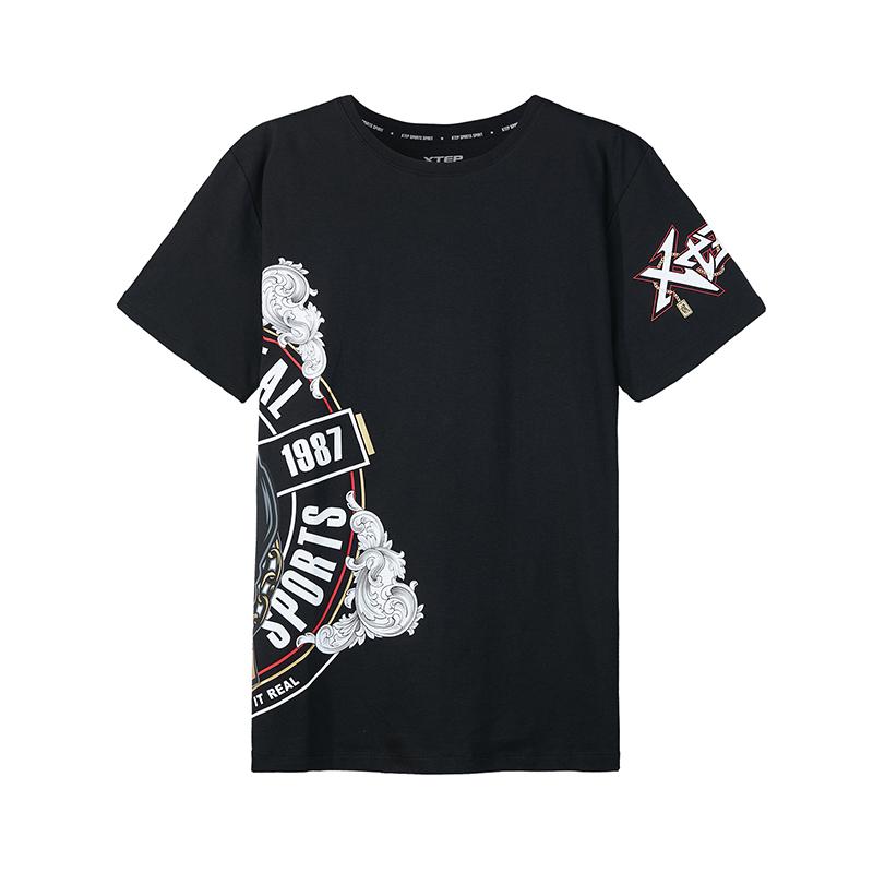特步 专柜款 男子短袖针织衫 潮流舒适上衣982329012438