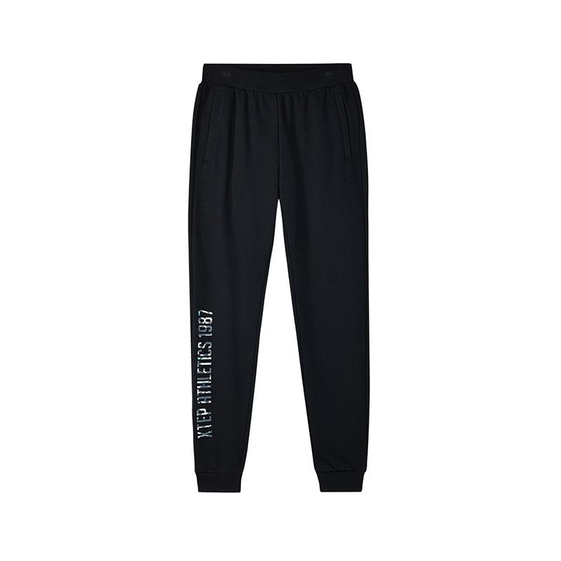特步 专柜款 女子针织长裤夏季新品时尚青春活力弹力运动休闲小脚裤 982328631428