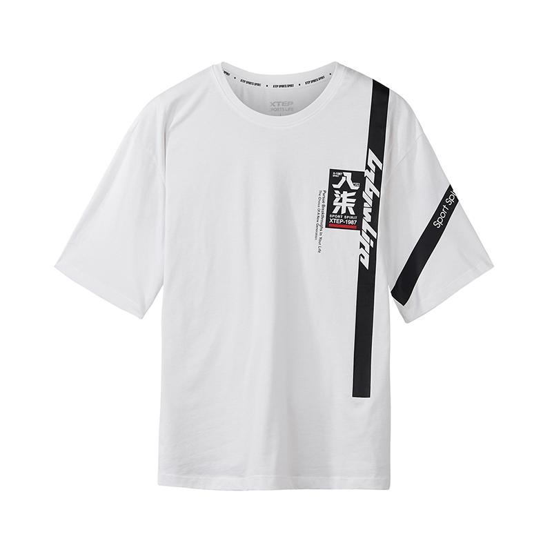特步 专柜款 男子短袖T恤薄款透气2018新款潮流男装舒适982329012416