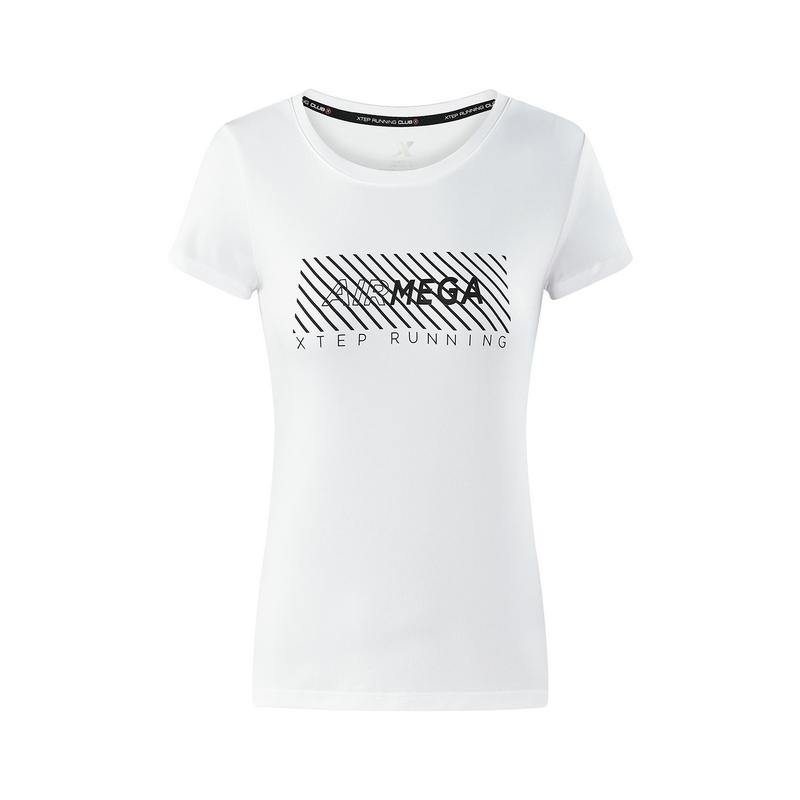 特步 专柜款  女子夏季跑步健身舒适透气短袖上衣982228012252