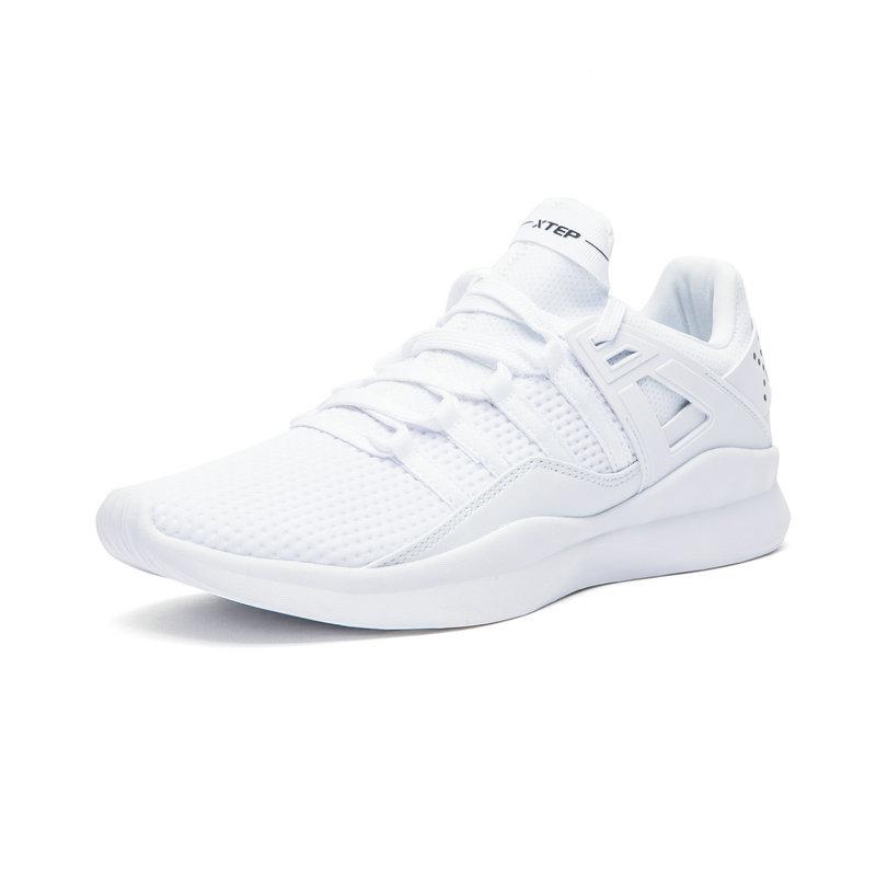 特步 专柜款 男鞋运动鞋休闲鞋小白鞋夏季新款透气一体飞织网面鞋982319326530