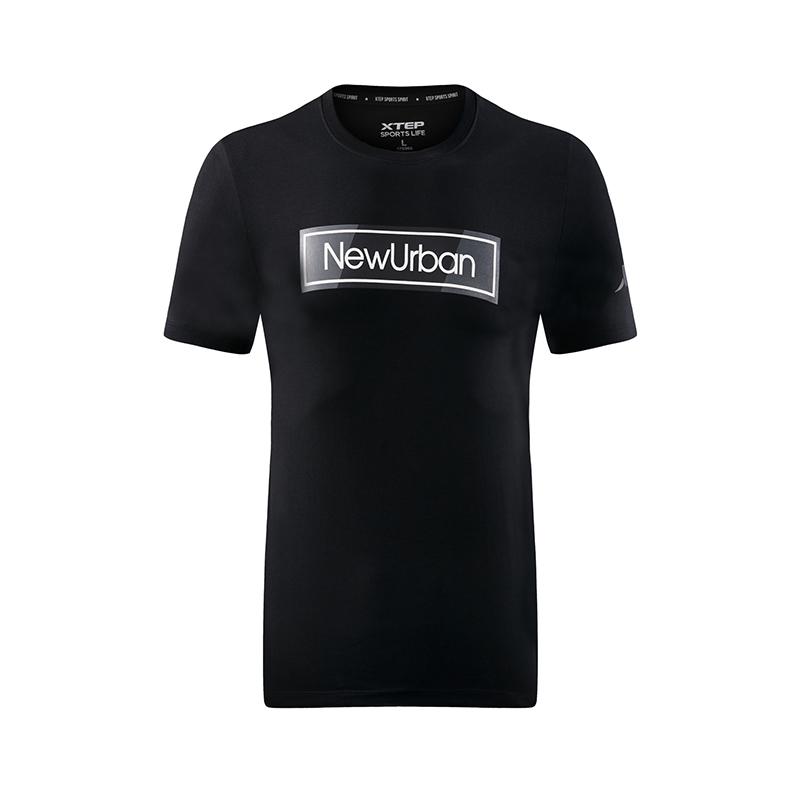 特步 专柜款 男子短袖针织衫 都市休闲T恤982229012225
