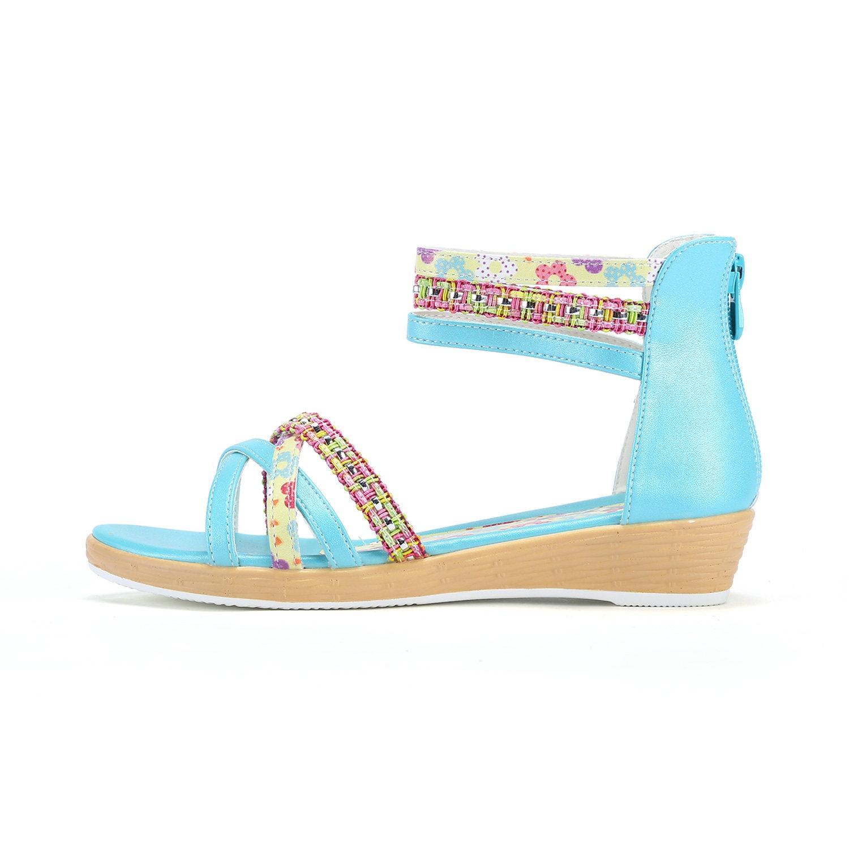 特步 专柜款 女童凉鞋 清爽舒适儿童夏季凉鞋 大童公主凉鞋684214205276