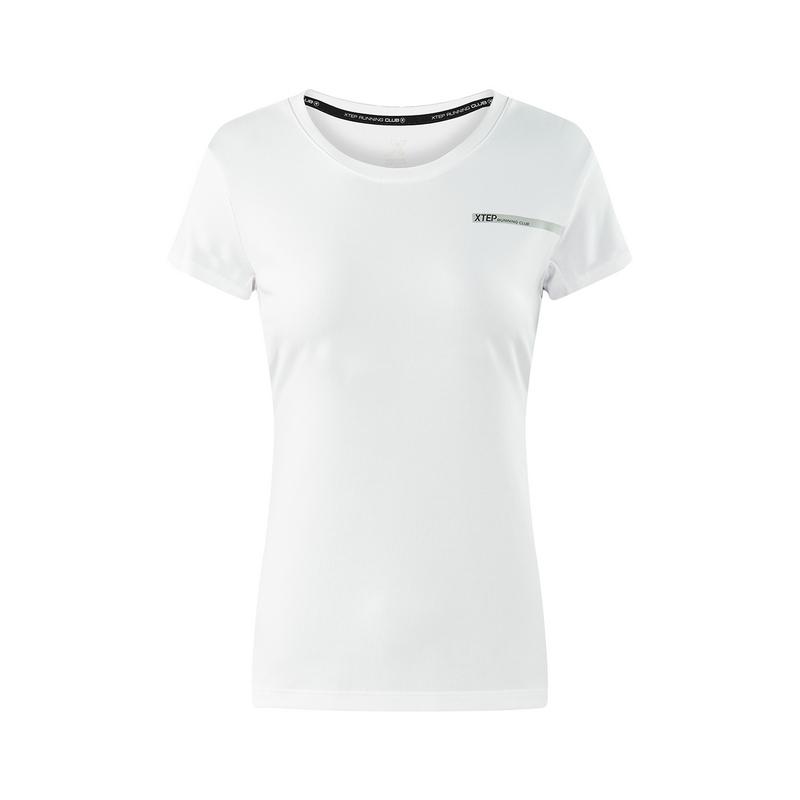 特步 专柜款 女子短袖针织衫T恤年夏季新品982328012347