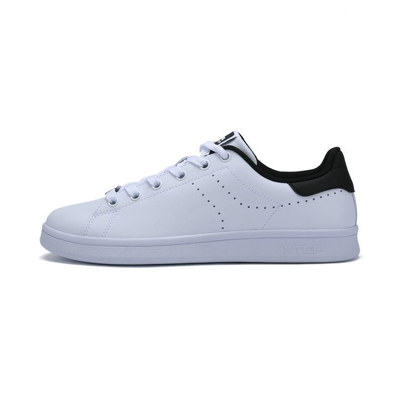 特步 专柜款 男子夏季板鞋 经典小白鞋 π系列板鞋983219315669