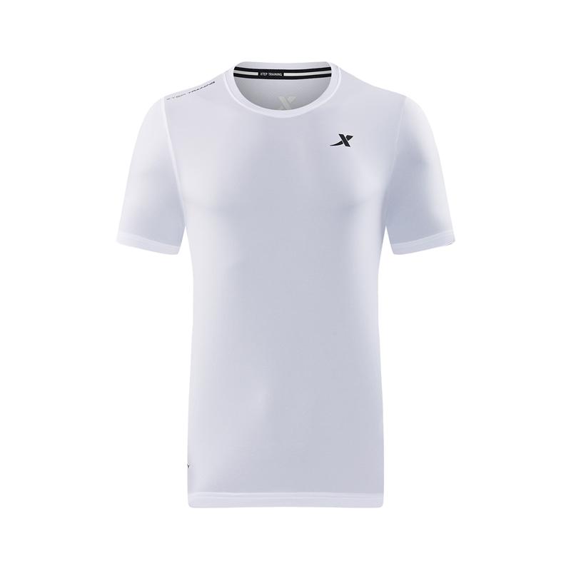 特步 专柜款 男子夏季新款时尚舒适短袖休闲运动T恤982229012101