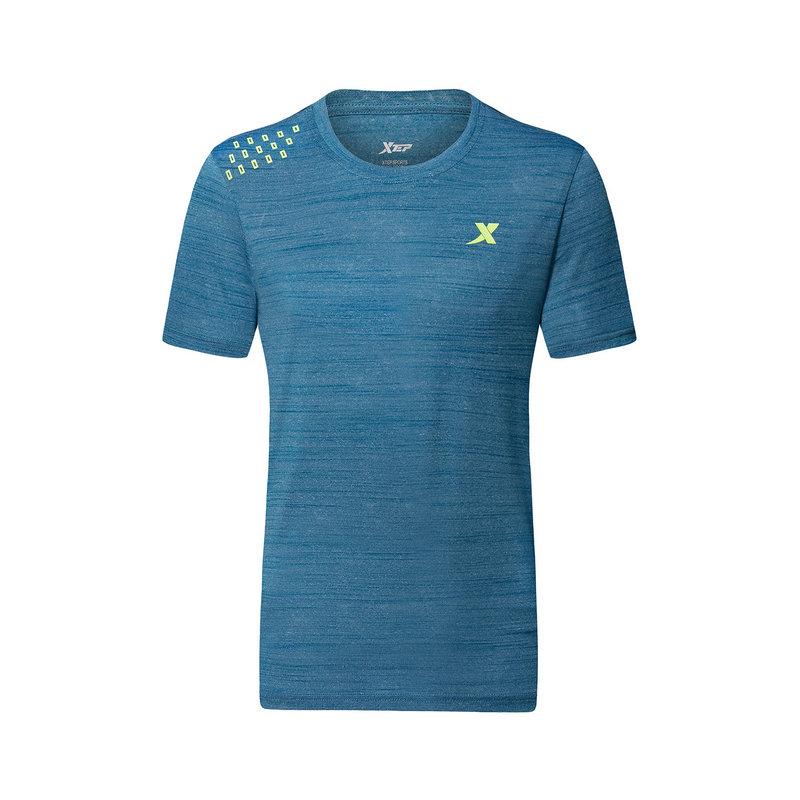 特步 男子运动T恤 舒适轻便健身训练运动T恤882229019117