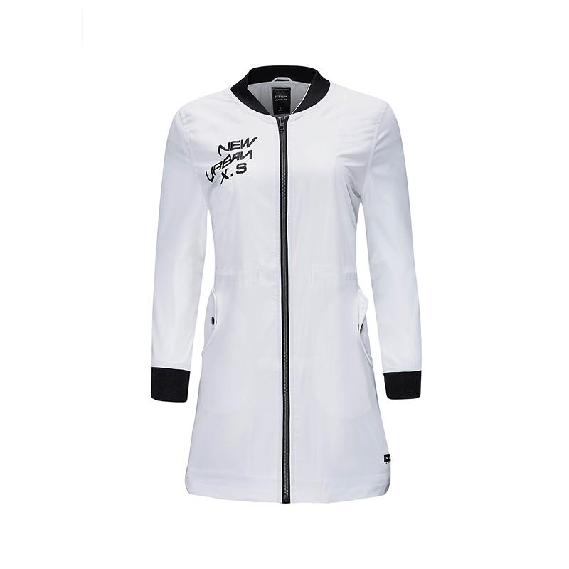 特步 专柜款 女子春季长款风衣 都市潮流外套982128160179