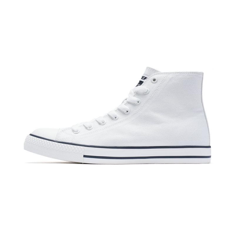 特步 男子帆布鞋 高帮休闲舒适鞋子982119109316