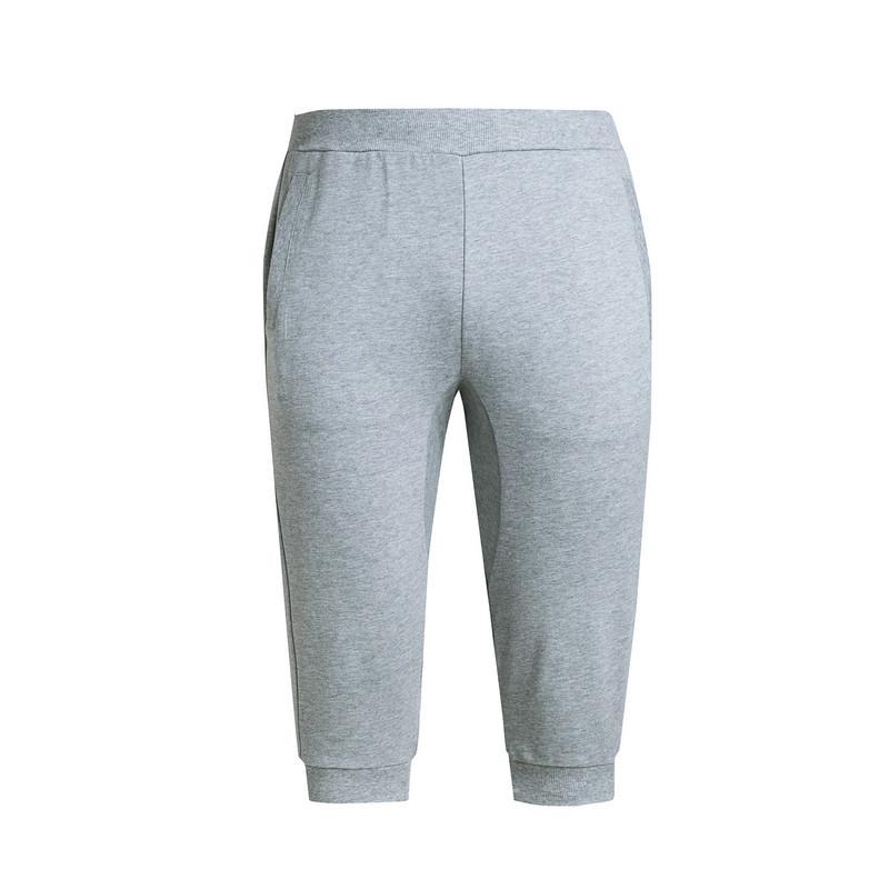 特步 男子针织七分裤 简约舒适透气运动训练中长裤男裤983229620233