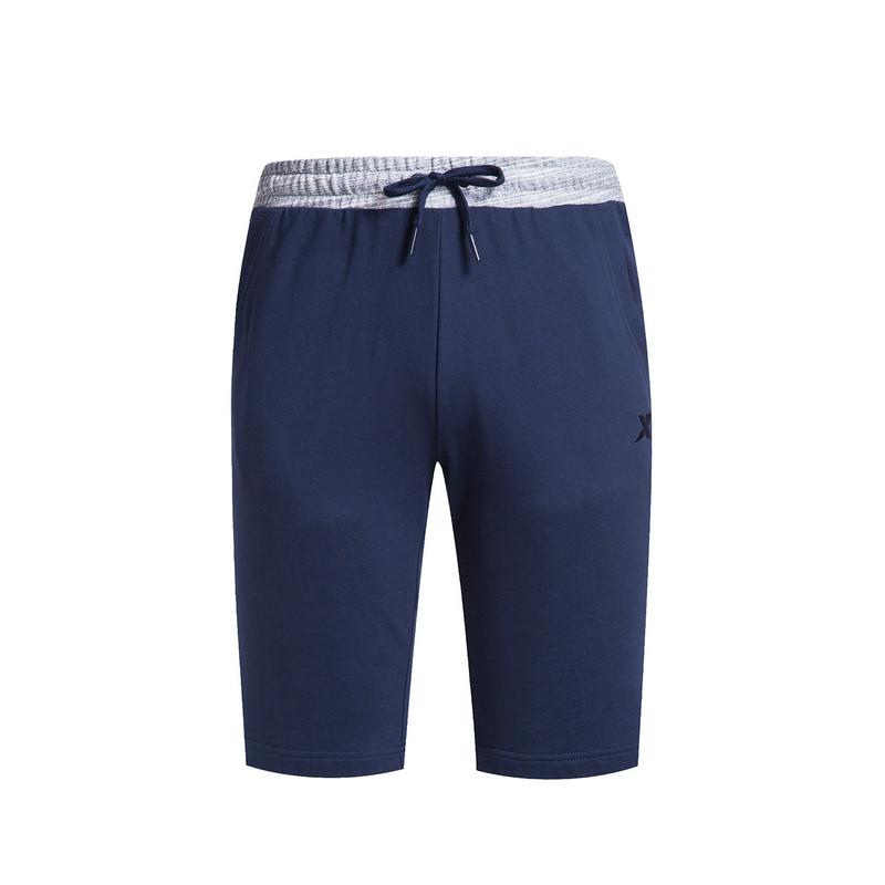 特步 专柜款 男子夏季中裤  针织舒适透气男短裤983229610150