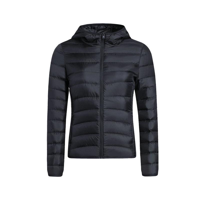 特步 专柜款 女子短款羽绒服 迷彩保暖外套983428190711