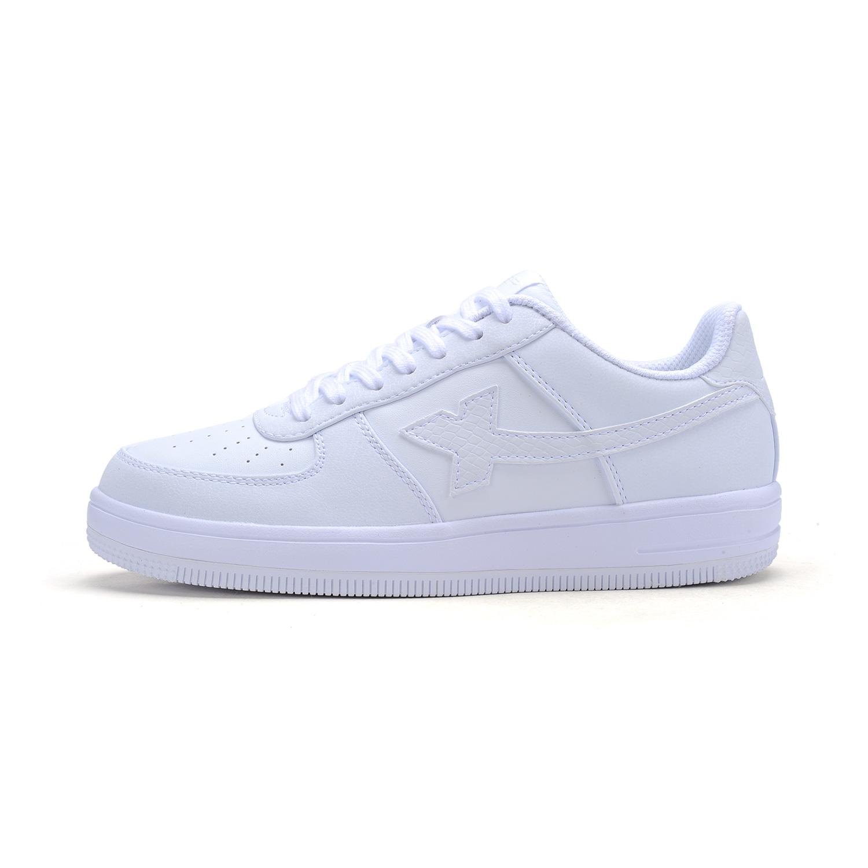 特步 专柜款 女子板鞋 简约百搭小白鞋984118315185