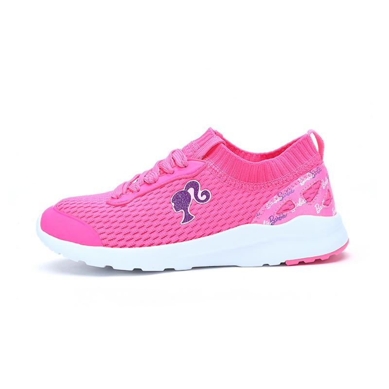特步 专柜款 女童休闲鞋春季款 芭比同款针织时尚袜口鞋682114325330