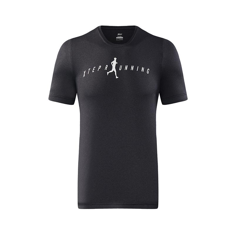 特步 男子跑步T恤 简约透气舒适运动装882229019206