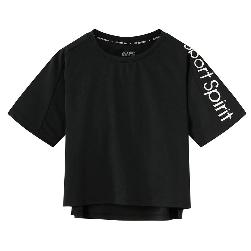 特步 专柜款 女子潮流T恤 都市宽松上衣982228012244