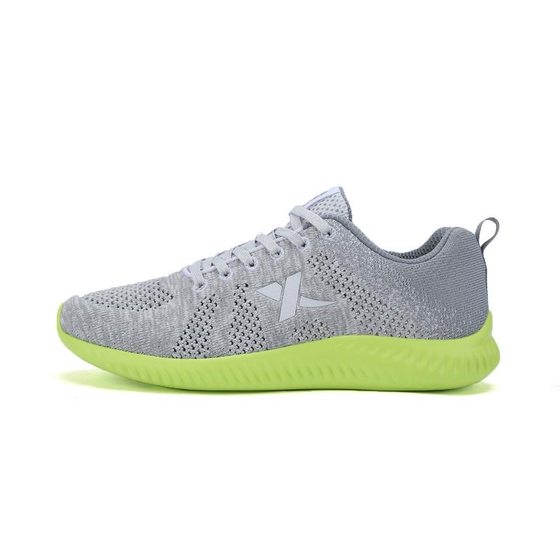 特步 专柜款 男鞋夏季跑步鞋  透气飞织男运动鞋子983219116320