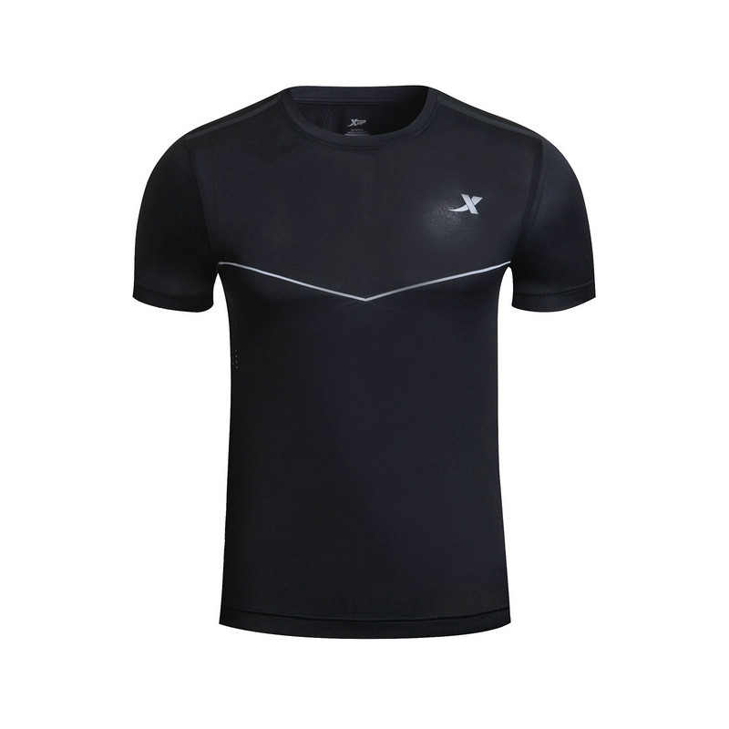 特步 男子短袖针织衫  吸湿透气 男子运动跑步T恤883229019320