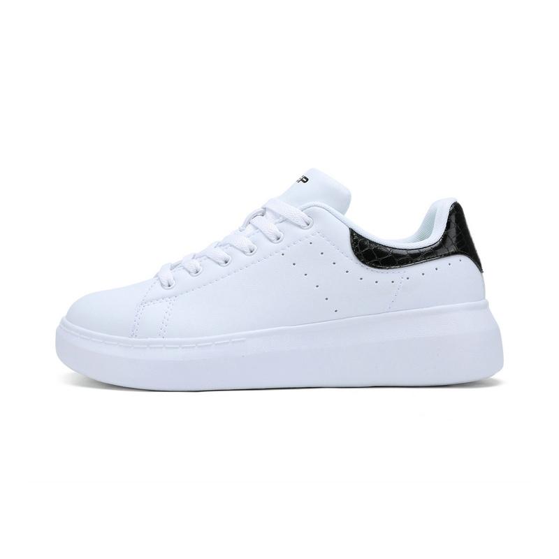 特步 专柜款 女板鞋新品 简约青春小白鞋983218315657