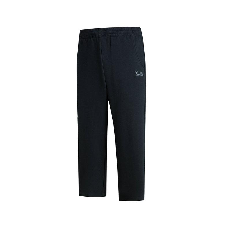 特步 女子针织阔腿裤 舒适训练裤 七分裤882128629107