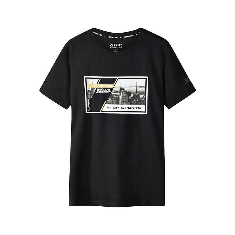 【2件99】特步 专柜款 男子新款都市休闲舒适透气短袖T恤982229012200