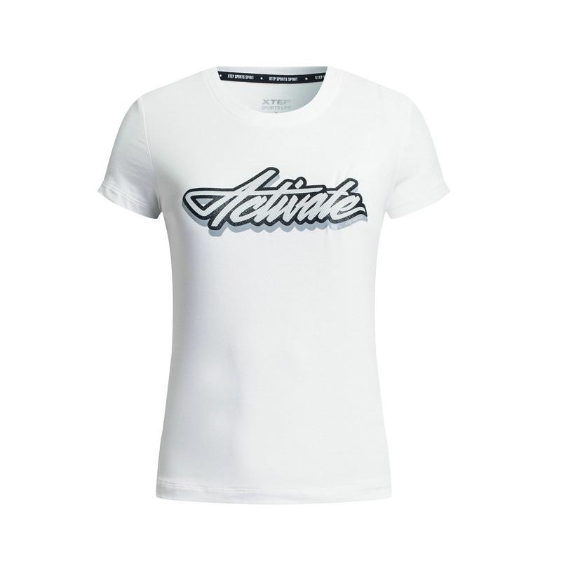 特步 专柜款 女子夏季短袖 17新品 简约百搭舒适 女上衣983328011890