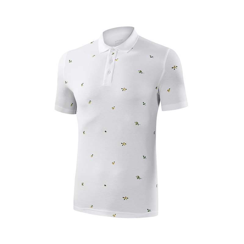 特步 专柜款 男子短袖针织衫  活力系列舒适T恤982229021041