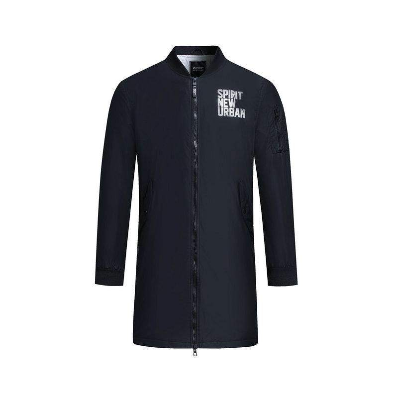 特步 专柜款 男子冬季薄棉服 新品长款保暖棉衣外套983429170358