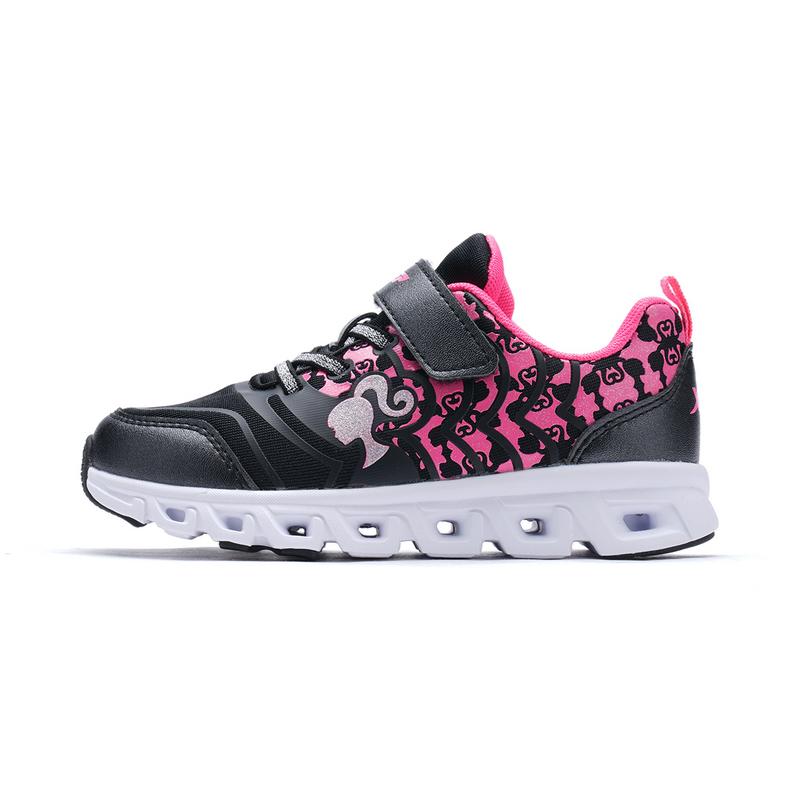 特步 专柜款 女童春季跑鞋 芭比同款童鞋682114113328