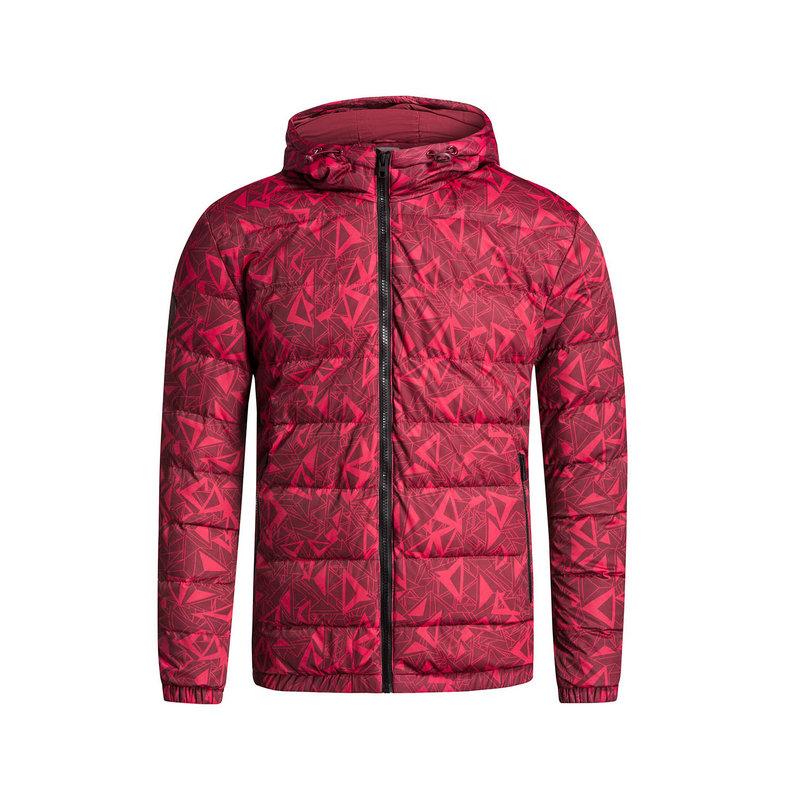 特步 男子羽绒服 冬季新款 生活系列保暖舒适休闲运动连帽外套883429199023