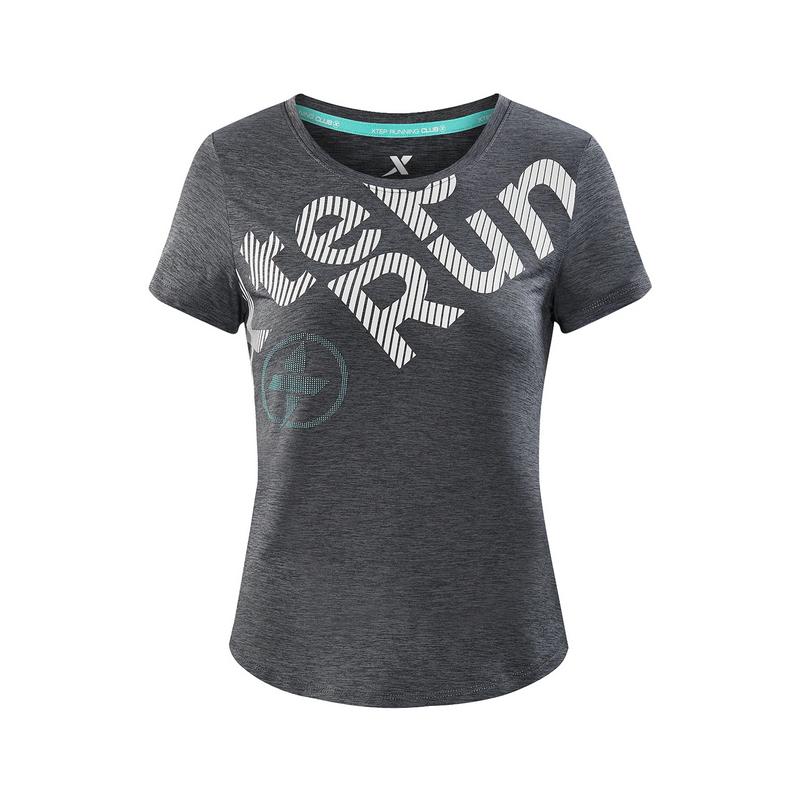 特步 专柜款 女子夏季跑步T恤 运动透气短装982228012246