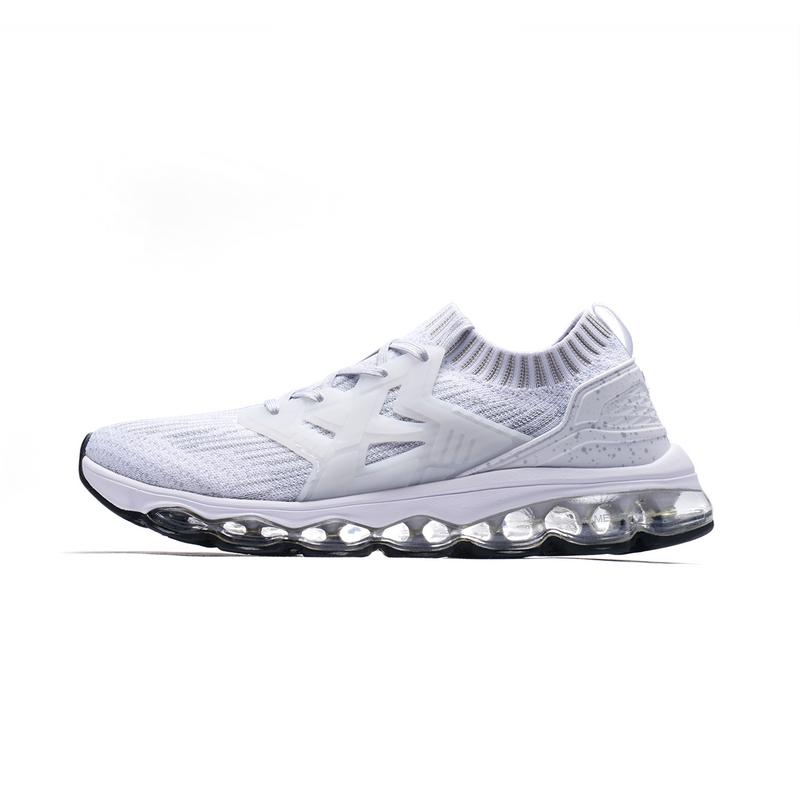 特步 男子跑步鞋春季款 全掌气垫轻便飞织跑鞋982119119528
