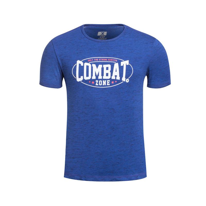 特步 专柜同款 男子综训T恤 运动健身 透气舒适男子短袖针织衫983229011668