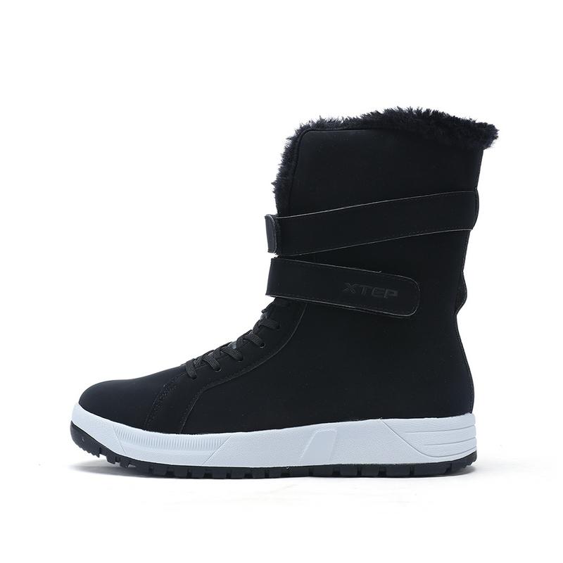 特步 专柜款 女子冬季棉鞋 保暖高帮时尚女鞋983418370999
