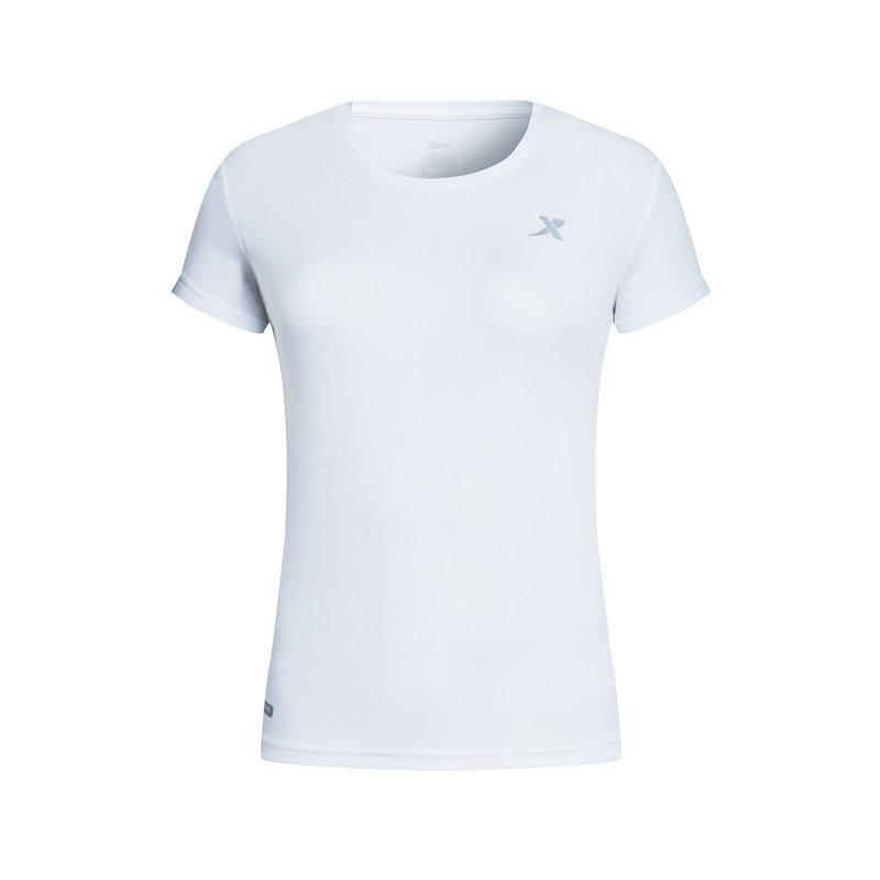 特步 女子短袖针织衫春季款 跑步舒适轻薄运动T恤882128019173