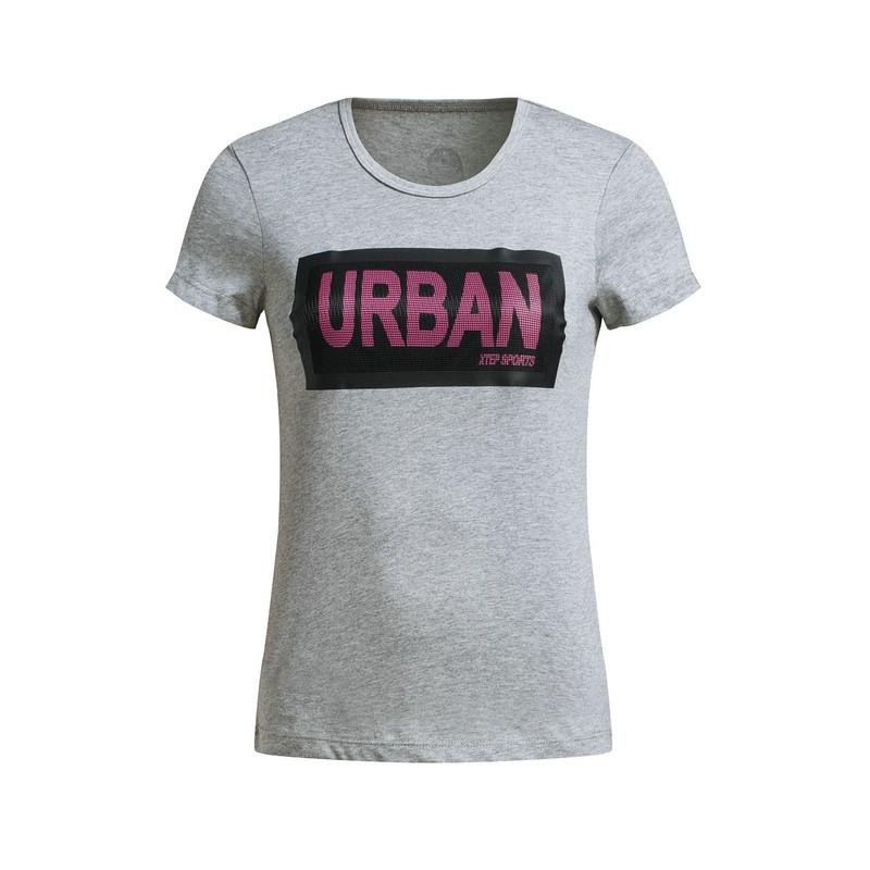 特步 专柜款 女子短袖针织衫 夏季新品简约短袖T恤983228011712