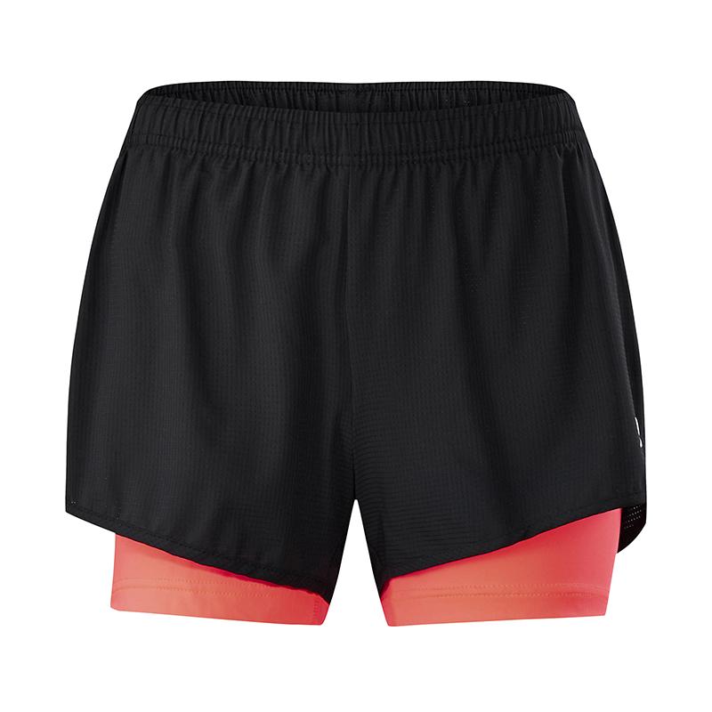 特步 专柜款 女子夏季松紧梭织短裤新品休闲透气轻便简约女子跑步运动短裤982228240103
