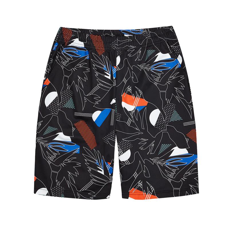 特步 专柜款 男子都市针织中裤2018夏季新品时尚休闲舒适短裤982229610182