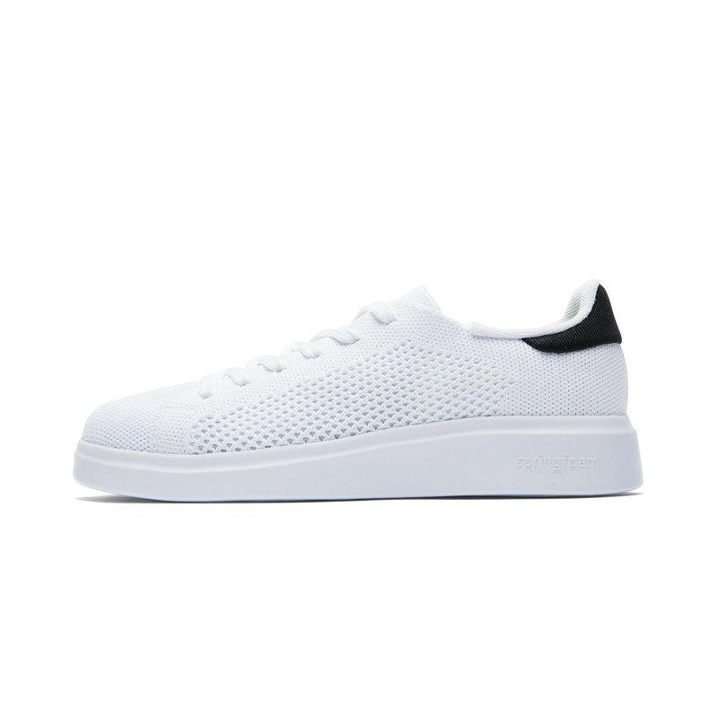 特步 专柜款 女子夏季板鞋 网面透气小白鞋982218315927