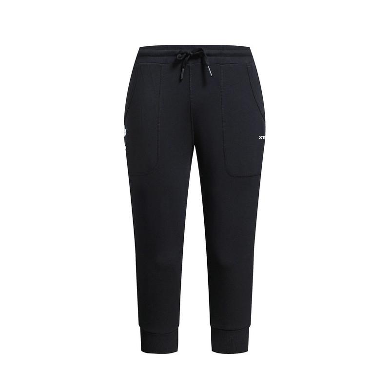 特步 专柜款 女子夏季七分裤  简约百搭女运动裤983228620223