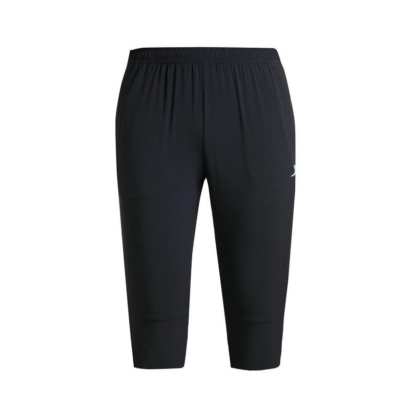 特步 专柜款 男梭织七分裤夏季新品 简约透气舒适男七分裤983229800023