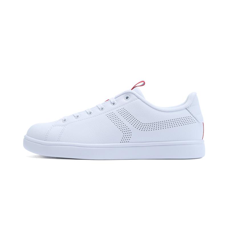 特步 专柜款 女子夏季板鞋 百搭小白鞋982218315838