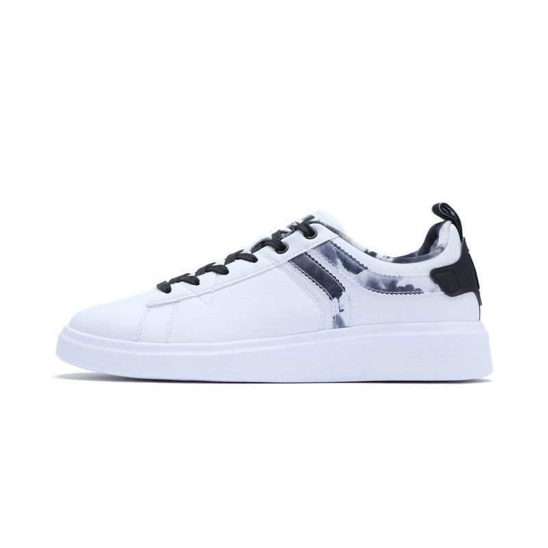 特步 15周年π系列男子板鞋 杭州水墨中国风小白鞋983419315781